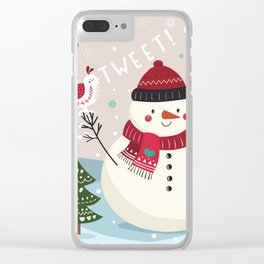 The Sweet Song Of Winter Friends Clear iPhone Case