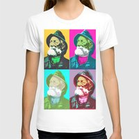 lichtenstein T-shirts featuring Warhol, Lichtenstein & The Fisherman by Christoffer Dupont