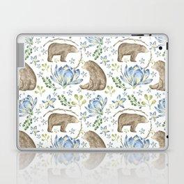 Bears in Blue Flowers Laptop & iPad Skin