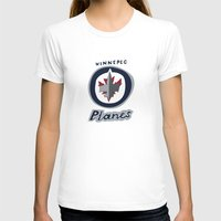planes T-shirts featuring winnepeg planes by Alex Nursall