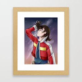 Keith flicking his hair - Voltron Framed Art Print