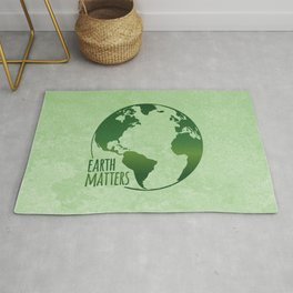 Earth Matters - Earth Day - Grunge Green 01 Rug