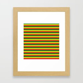 colorful rasta stripe pattern design Framed Art Print