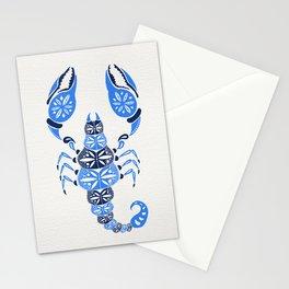 Blue Scorpion Stationery Cards