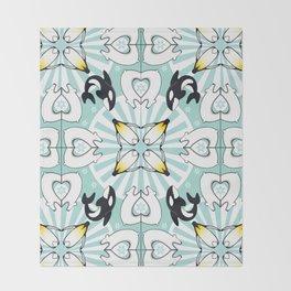 Kaleidoscopic Both Poles Animals Throw Blanket