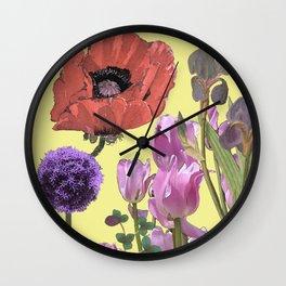 Floral fantasies Wall Clock