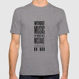 Lab No. 4 - Friedrich Nietzsche Quote life music typography poster T-shirt