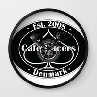 cafe racer Wall Clocks featuring Cafe Racer  by Peter G. Brandt