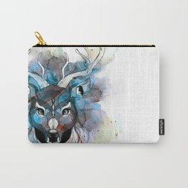 Deer- Blue Carry-All Pouch