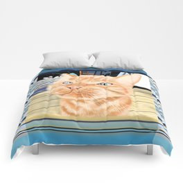 Oliver the Sniffy Red Tabby Cat Comforters