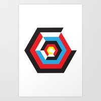 bauhaus Art Prints featuring Bauhaus by liz williams