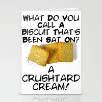 pun Stationery Cards featuring Crushtard Cream Pun by georgestow