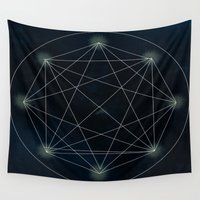 sacred geometry Wall Tapestries featuring Geometry Sacred by BlueGardenia36