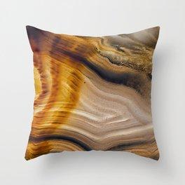 Spearhead Agate Throw Pillow