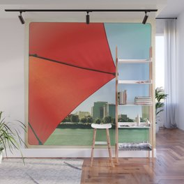 The Red Umbrella Wall Mural