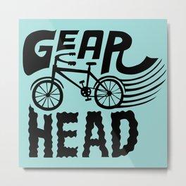 Gearhead Metal Print
