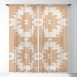 Southwestern Minimalism - Desert Orange Sheer Curtain