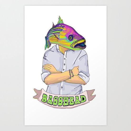 Bass Head Art Print