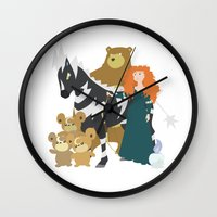 merida Wall Clocks featuring Team Merida by Citron Vert
