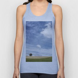 Andalusian field planted in spring Unisex Tank Top