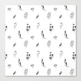 Little botanics black&white Canvas Print