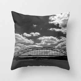 Barge on the Mississippi Throw Pillow