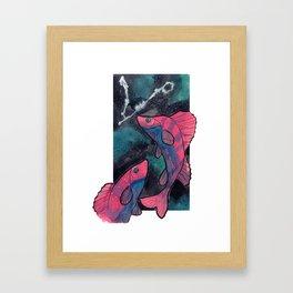 Constellation Pisces Framed Art Print