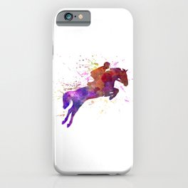 Horse show 01 in watercolor iPhone Case
