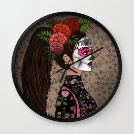 Rosa Maria on the Day of the Dead Wall Clock