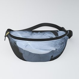 White feather reflection Fanny Pack
