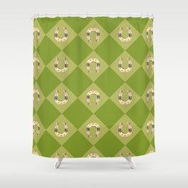 Gold horseshoe Shower Curtain