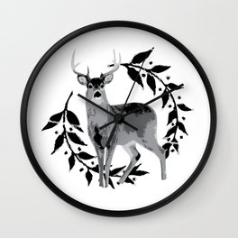 Laurel Deer Wall Clock