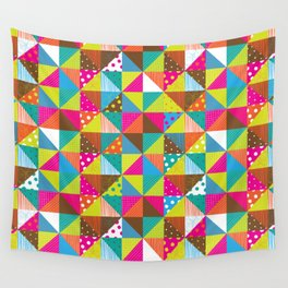 Crazy Squares Wall Tapestry
