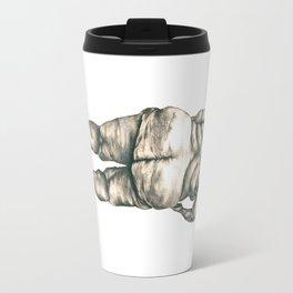 Woman in Shower Travel Mug