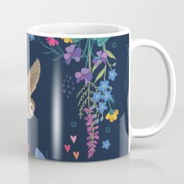 Owl and Wildflowers Coffee Mug