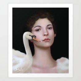Miss Swan Art Print