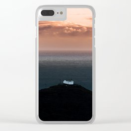 Lonely House by the Sea during Sunset - Landscape Photography Clear iPhone Case