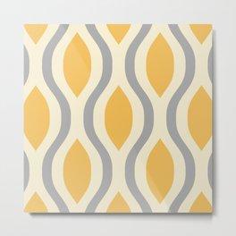 Pretty Ogee Pattern 372 Metal Print