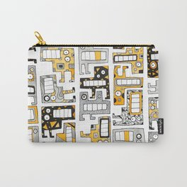 Tetris monsters yellow and grey Carry-All Pouch
