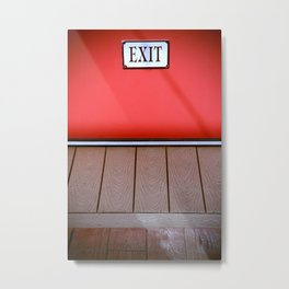 The Next Exit Metal Print