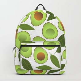 Avocado and Avocado Leaves pattern illustration Backpack