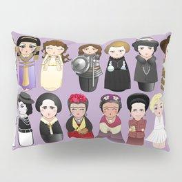 Kokeshis Women in the History Pillow Sham
