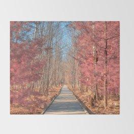 Jesup Boardwalk Trail - Tickle Me Pink Throw Blanket