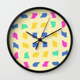 Colorblocks, Light Yellow Wall Clock