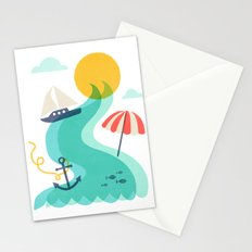 Surf and Sand Stationery Cards