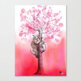 Spring Bears Canvas Print