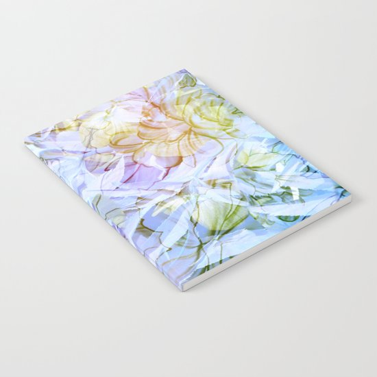 Soft Rainbow Floral Abstract Notebook