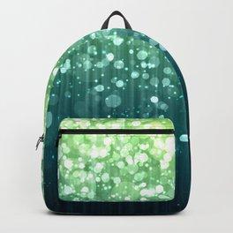 Spring Teal Green Sparkles Backpack