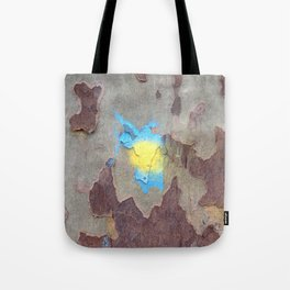NVSV SPCS_yellow and blue blaze Tote Bag