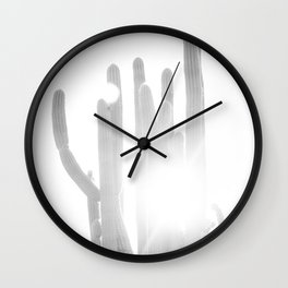 Sun blazing through San Pedro Cactus Wall Clock